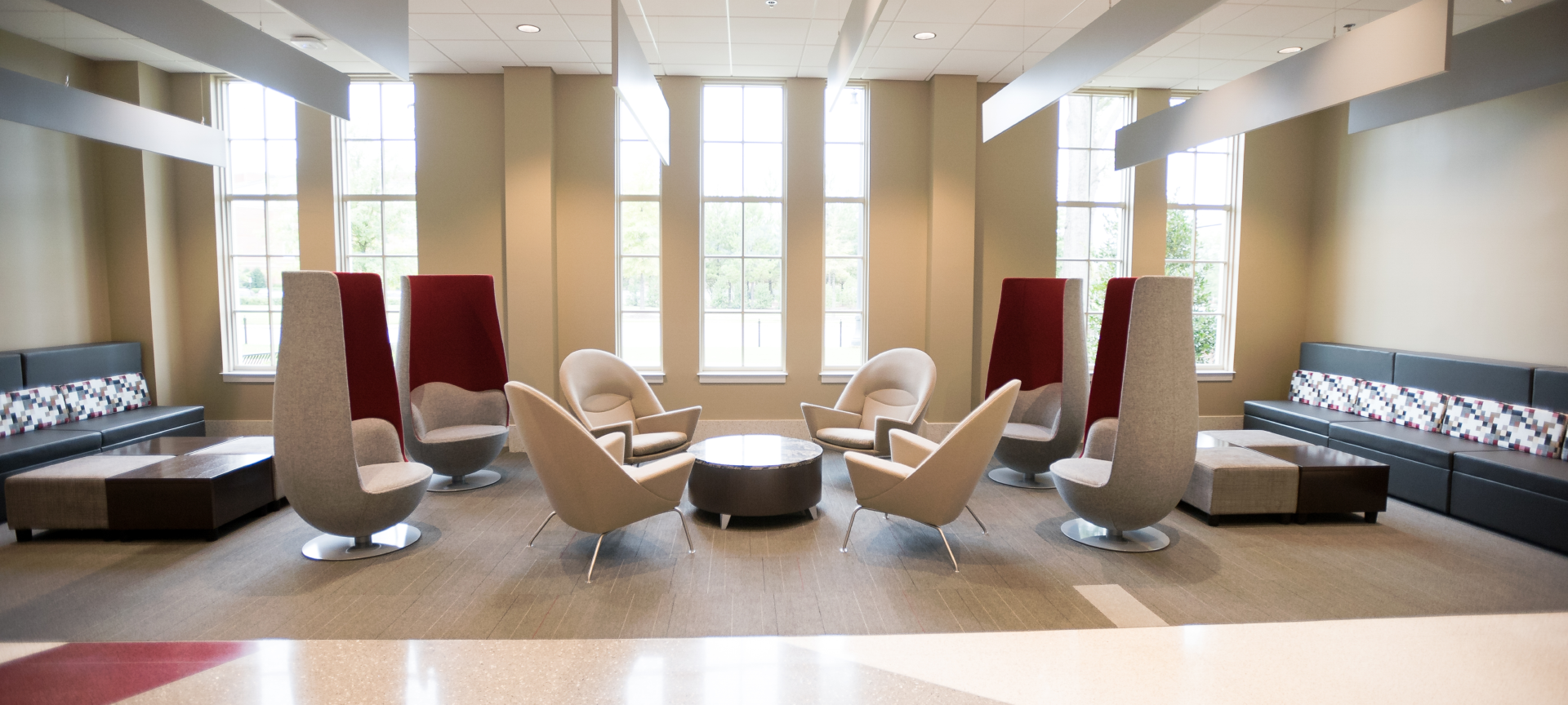 North Lawn Hall Common Area Seating Options
